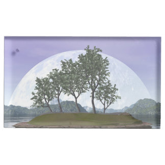 Smooth leaved elm bonsai tree - 3D render Table Card Holders