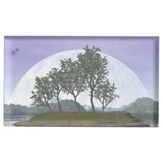 Smooth leaved elm bonsai tree - 3D render Table Number Holder
