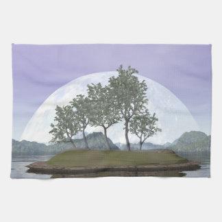 Smooth leaved elm bonsai tree - 3D render Tea Towel