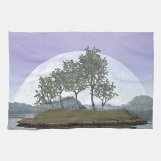 Smooth leaved elm bonsai tree - 3D render Tea Towels