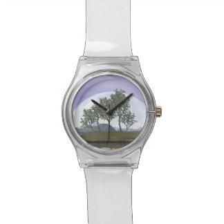 Smooth leaved elm bonsai tree - 3D render Wrist Watch