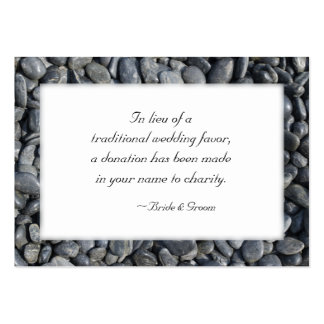 Smooth Pebbles Wedding Charity Favor Card Pack Of Chubby Business Cards