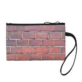 Smooth Red Brick Wall Detail Coin Purses