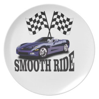 smooth ride blue dinner plate