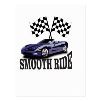 smooth ride blue postcard