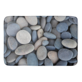 Smooth River Stones Bath Mat