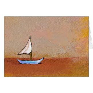 Smooth Sailing - beauty peace calm modern art Greeting Card