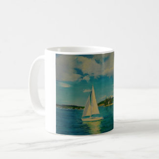 Smooth Sailing print on coffee mug