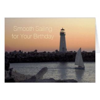 Smooth Sailing Scenic Birthday Card