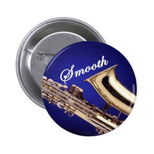 Smooth Saxophone Pinback Buttons