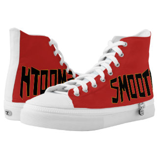 Smooth Style - Red Sneaker Printed Shoes
