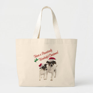 Smooth Toy Fox Terrier Christmas Wishes Jumbo Tote Bag
