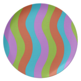 Smooth Wave Stripes Party Plates
