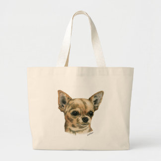 Smoothcoat chihuahua - 1 (colour) large tote bag