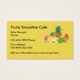 Smoothie Cafe Businesscards Business Card