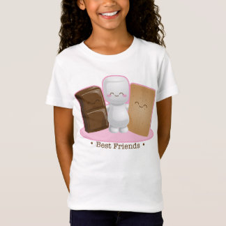 """S'more Buddies"" Girls Baby Doll Shirt"