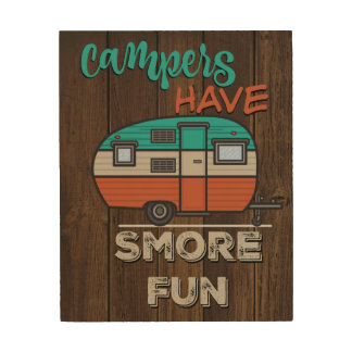 Smore fun wood wall art
