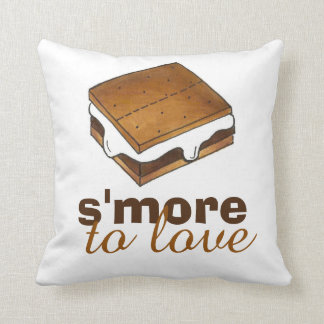 S'More To Love Funny Foodie Camp S'mores Pillow