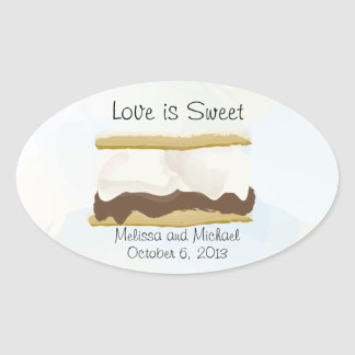 Smores Love Is Sweet Oval Sticker