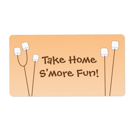 S'mores party favour bag tag shipping label