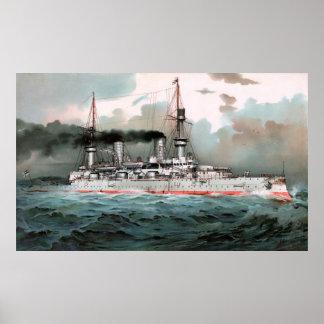 "SMS Kaiser Wilhelm II 52.5""x32"" Poster"