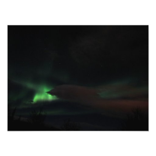 Smudge of Northern Lights Photograph