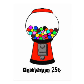 Smudged Gumball Machine Postcard