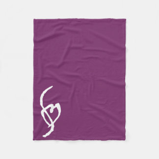 Smuffin Smut Mark Fleece Blanket Purple
