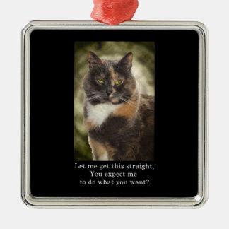 Smug Kitty - Do What You Want Christmas Ornaments