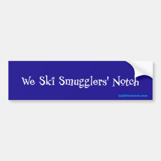 Smugglers' Notch Bumper Sticker