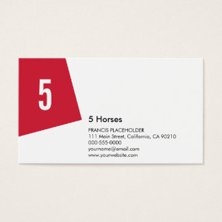 SN Corporate No23B Warm Red Business Card