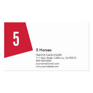 SN Corporate No23B Warm Red Pack Of Standard Business Cards