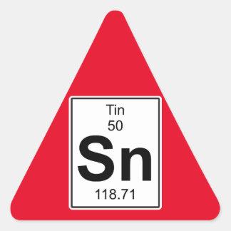 Sn - Tin Triangle Sticker