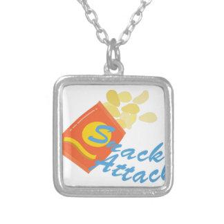 Snack Attack Square Pendant Necklace