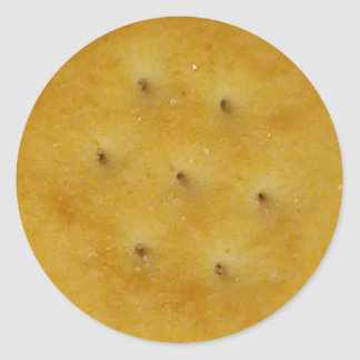 Snack Cracker Classic Round Sticker