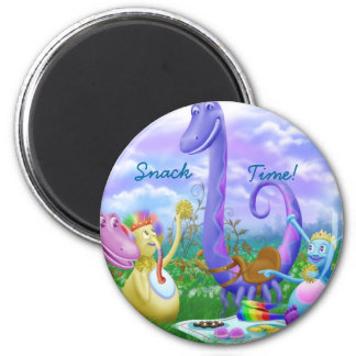 Snack Time! 6 Cm Round Magnet