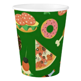 Snack Time Green Picnic Paper Cups