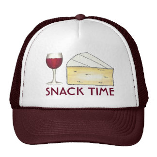 Snack Time Red Merlot Wine + Brie Cheese Hat
