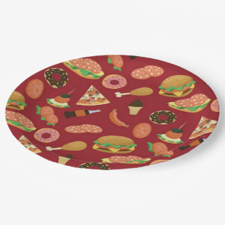 Snack Time Red Picnic Paper Plates