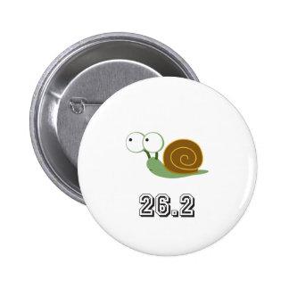 Snail 26.2 (marathon) 6 cm round badge