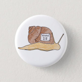 snail 3 cm round badge