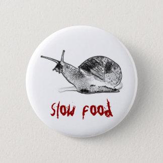 snail 6 cm round badge