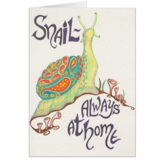 Snail-always at home notecard