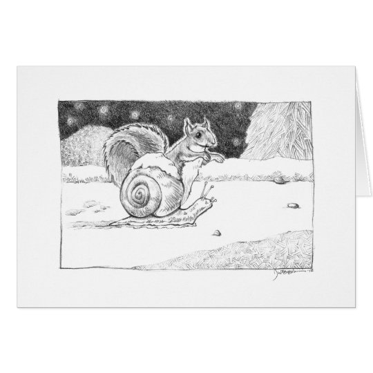 Snail and Squirrel card