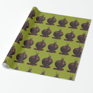 Snail Drawing Glossy Wrapping Paper, 30 in x 6 ft Wrapping Paper