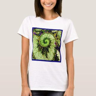 Snail Escargot Begonia Leaf by Sharles T-Shirt