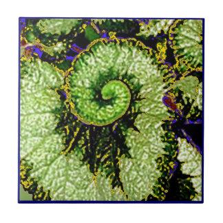 Snail Escargot Begonia Leaf by Sharles Tile