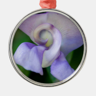 Snail Flower Silver-Colored Round Decoration