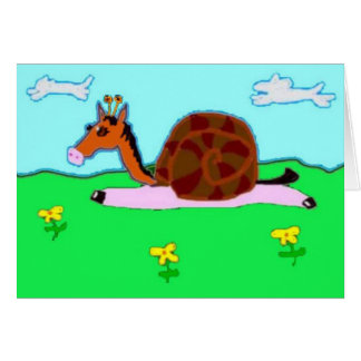 Snail Horse Penelope Greeting Card