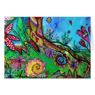 Snail in Wonderland Greeting Cards